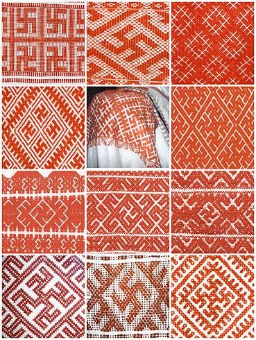 Древние орнаменты вышивка